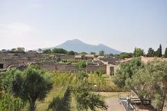 Vesuvio visto de Pompeya. Imagenes de archivo