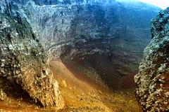 Vesuvio Volcano crater Stock Photography