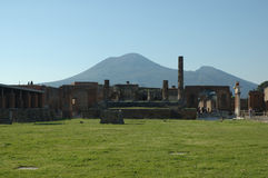 Vesuvius. The view at Vesuvius from Pompeii, Italy Royalty Free Stock Image