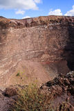Vesuvius. Volcano Inner Wall and rock face Royalty Free Stock Images