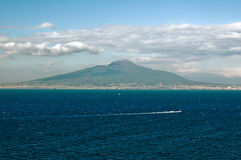 Vesuvius. View at vesuvio and naples from Sorrento Italy royalty free stock images