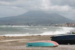 Vesuvius beach Stock Images