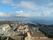 The Vesuvius and the City of Naples View Royalty Free Stock Images