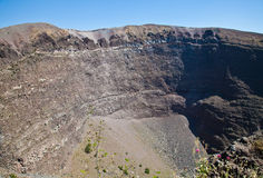 Vesuvius crater. Detail of the Vesuvius crater, Naples, Italy stock photography
