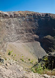 Vesuvius crater. Detail of the Vesuvius crater, Naples, Italy royalty free stock photography