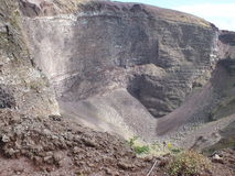 Vesuvius crater. This is the steep slope leading to the crater of vesuvio.  you can see 3 different rock stata and the screed being formed off both sides  The Stock Images