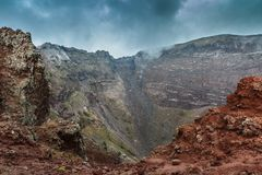 Vesuvius crater. View of Vesuvius crater in Naples, Italy Royalty Free Stock Image