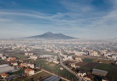 Vesuvius form above. Royalty Free Stock Photography
