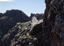 Vesuvius fumaroles Stock Photography