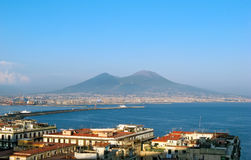 Vesuvius hugs Naples Stock Photography