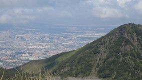Vesuvius i piękny miasto Obrazy Royalty Free