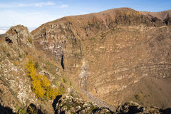 Vesuvius krater Arkivbilder