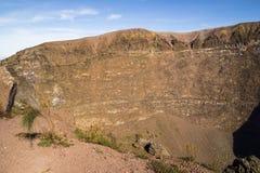 Vesuvius krater Arkivbild