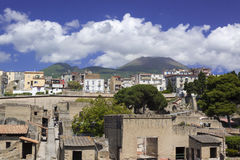 Vesuvius, looking from Herculaneum Royalty Free Stock Image