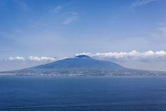 Vesuvius, looking from Sorrento. A view from Sorrento of the active volcano, Vesuvius with calm seas in the foreground Stock Photography