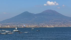 Vesuvius. Mount Vesuvius Volcano and Naples Italy royalty free stock photography