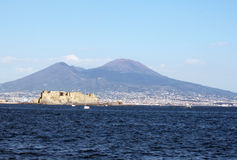 Vesuvius from naples Stock Photo