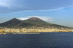 Vesuvius. Photo of Naples in the summer stock images