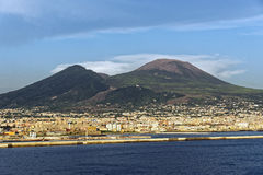 Vesuvius. Photo of Naples in the summer Royalty Free Stock Photography
