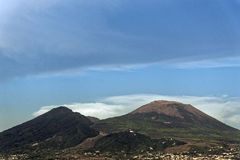Vesuvius. Photo of Naples in the summer royalty free stock image