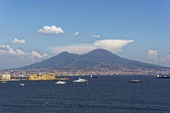 Vesuvius. Photo of Naples in the summer royalty free stock photo