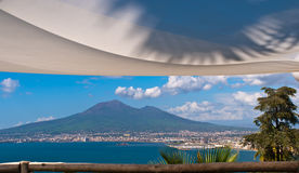 Vesuvius Sypialny gigant obrazy stock