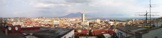 Vesuvius. A view of Vesuvius and the beautiful city of Naples with all its colors emotions and smells Stock Images