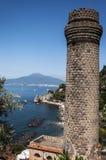 Vesuvius. View of mount Vesuvius from sorrento coast, Italy royalty free stock photography