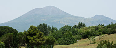Vesuvius volcano. Vesuviuw volcano in Pompey. Italy Stock Photo