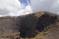 Vesuvius volcano crater Royalty Free Stock Photos