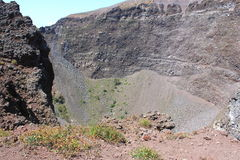 Vesuvius volcano crater. Royalty Free Stock Photos