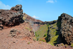 Vesuvius volcano crater next to Naples Stock Photo