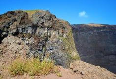 Vesuvius volcano crater Stock Photography