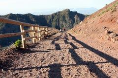 Vesuvius Volcano crater path Italy Stock Photos