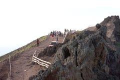 Vesuvius Volcano crater path Italy Royalty Free Stock Photo