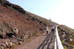 Vesuvius Volcano Italy. Vesuvius Volcano path in Naples in Italy Royalty Free Stock Photo