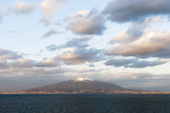 Vesuvius volcano, Italy. Vesuvius vulcano in late evening light royalty free stock photos