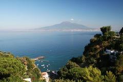 Vesuvius volcano. The volcano vesuvius and the landscape from vico equense in italy Stock Image
