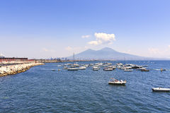 Vesuvius volcano sea view Stock Photography