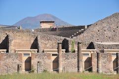 Vesuvius Volcano. Is seeing on background of Pompeii stock image