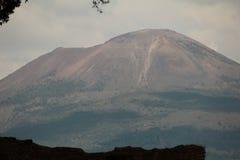 Vesuvius volcano seen from Pompeii. Very large volcano seen from the historical site of Pompeii Royalty Free Stock Photos