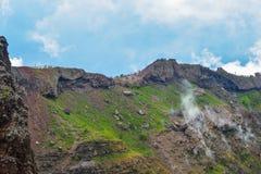 Vesuvius wulkanu krater Zdjęcie Royalty Free