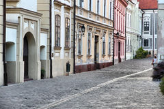 Veszprem, Hungary. City in Central Transdanubia region. Old town street Royalty Free Stock Image
