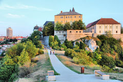 Veszprem, Hungary. City in Central Transdanubia region. Townscape with castle Royalty Free Stock Photography