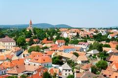 veszprem wiev的匈牙利 免版税库存图片