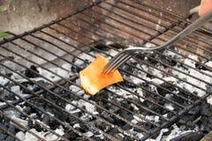 Vet bij de grill Stock Fotografie