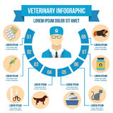 Vet clinic infographic concept, flat style. Vet clinic infographic banner concept. Flat illustration of vet clinic infographic vector poster concept for web Royalty Free Stock Image