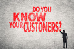 Vet du dina kunder? royaltyfri fotografi