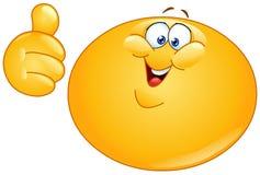 Vet emoticon met omhoog duim Stock Afbeeldingen