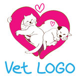 Vet logo design Stock Images